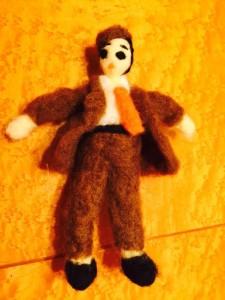 男性の握り人形
